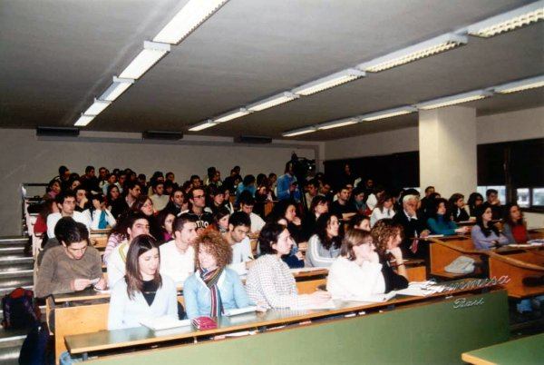 a student class in Bari University