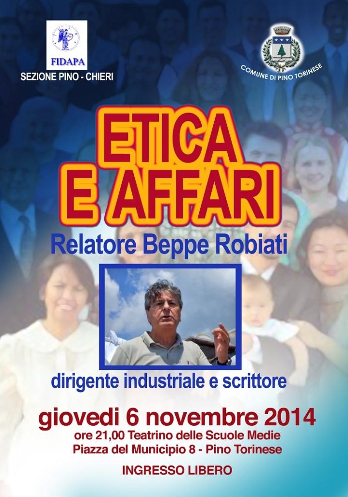 Giovedì 6 novembre 2014, ore 21, teatrino delle scuole medie, piazza del Municipio 8, Pino Torinese