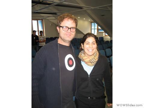 Rain Wilson e Noemi (figlia di Beppe)